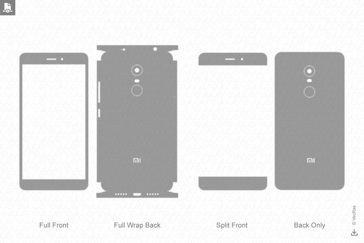 Xiaomi Redmi Note 4 Vinyl Skin Cut