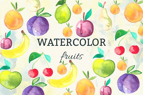 Watercolor Fruits