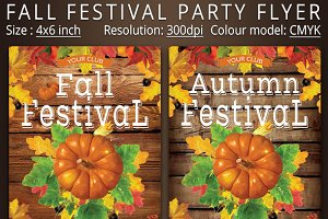 Fall Festival Party Flyer