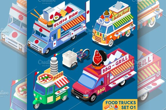 Food Truck Collection in Illustrations