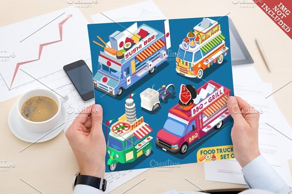 Food Truck Collection in Illustrations - product preview 1