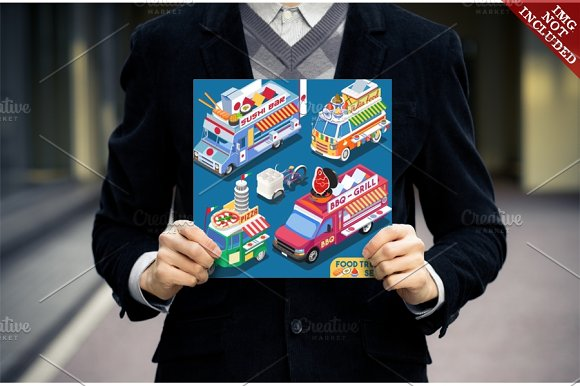 Food Truck Collection in Illustrations - product preview 3