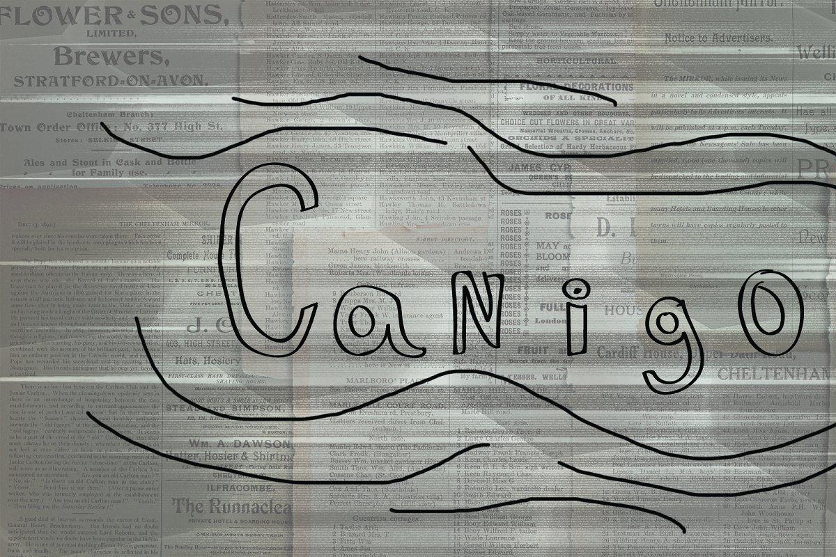 Canigo Script - Hand Drawn Font