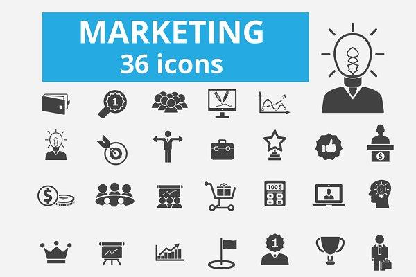 36 marketing icons