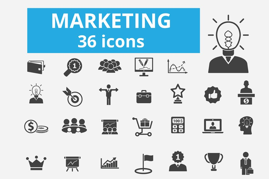 36 marketing icons