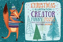 Christmas Illustration Creator/Foxes