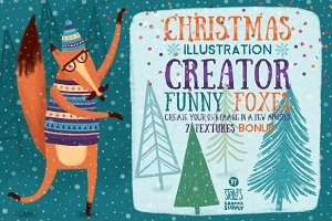 Christmas Illustration Creator/Foxes