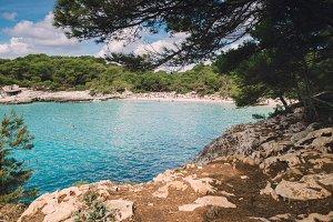 Turqueta beach in Menorca,