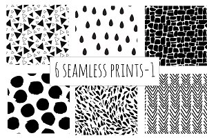 6 seamless prints