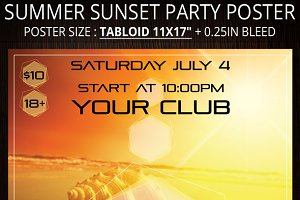 Summer Sunset Party Poster