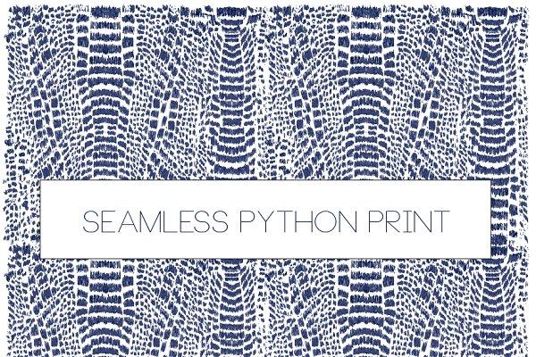 Animal seamless pattern print