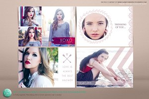 Valentine Photo Postcards 4 set
