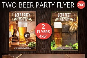 Two Flyer Beer Party And Beer Festiv