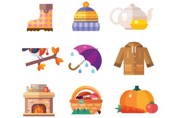 Autumn time attributes.