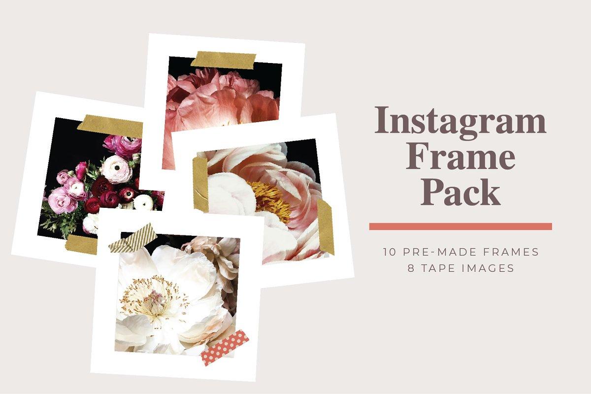 Instagram Tape Frame Template Pack