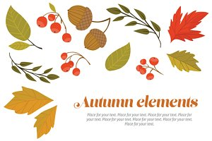 Autumn decorative set