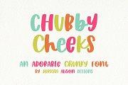 Chubby Cheeks, Sans Serif Font