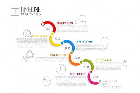 infographic timeline bundle presentation templates creative market