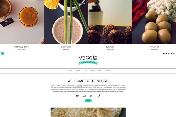 Veggie - Food Blog WordPress Theme
