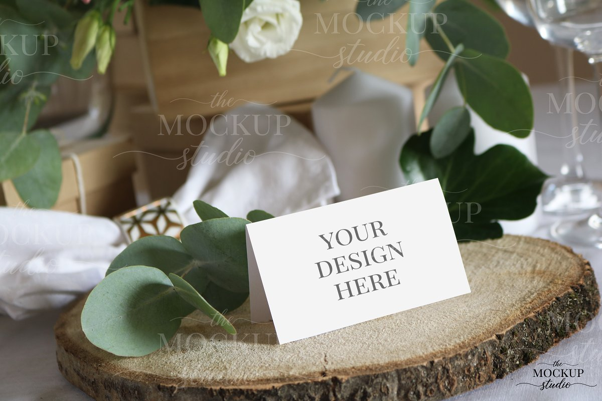 Place Card Mockup Bundle in Invitation Templates - product preview 8