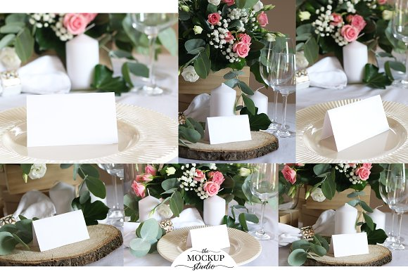 Place Card Mockup Bundle in Invitation Templates - product preview 2