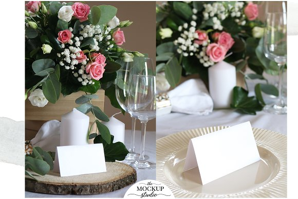 Place Card Mockup Bundle in Invitation Templates - product preview 3