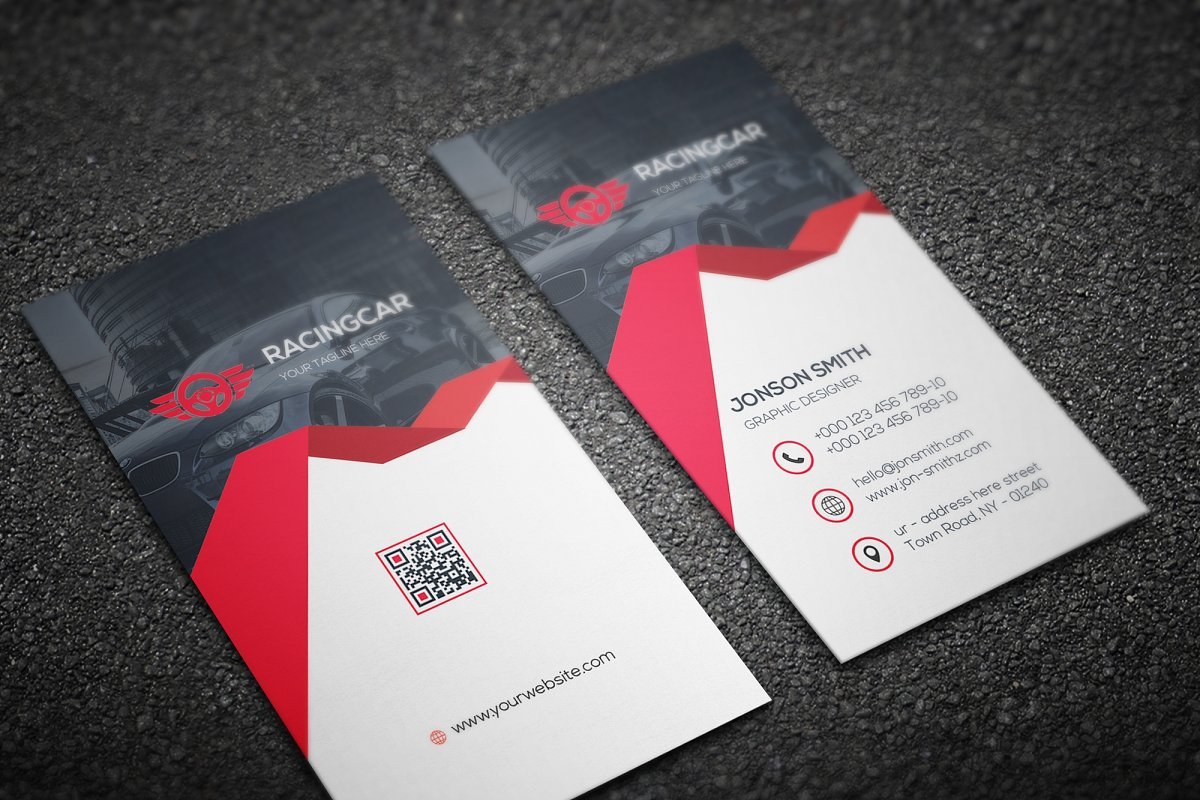 Rent-A-Car Business Card in Business Card Templates - product preview 2