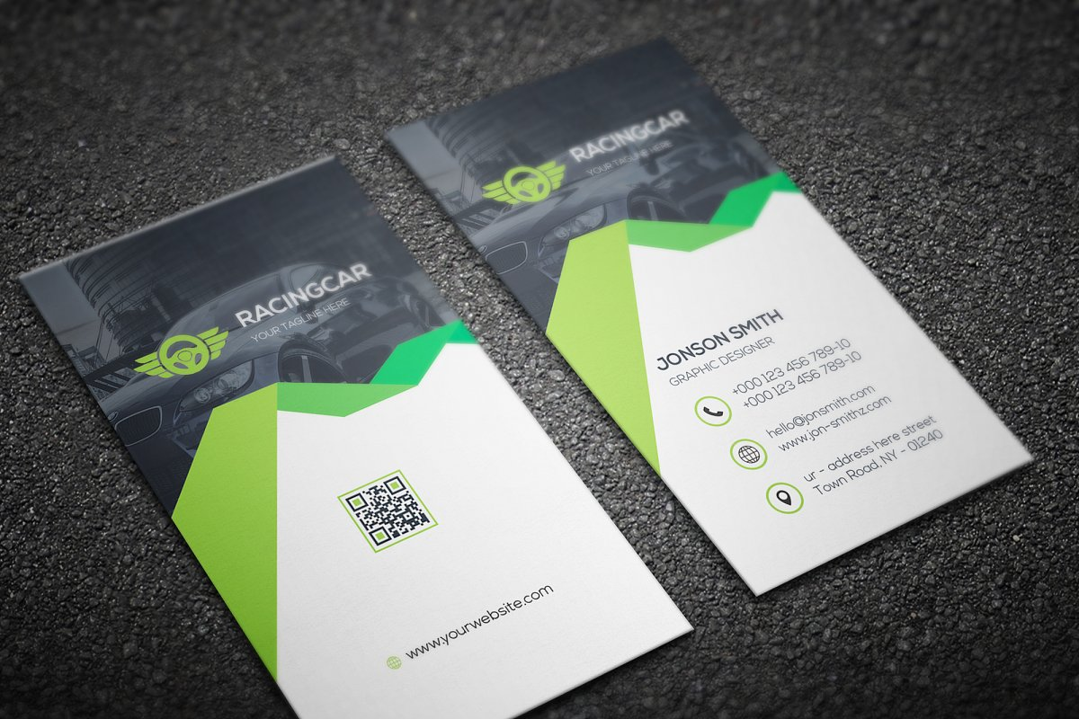 Rent-A-Car Business Card in Business Card Templates - product preview 3