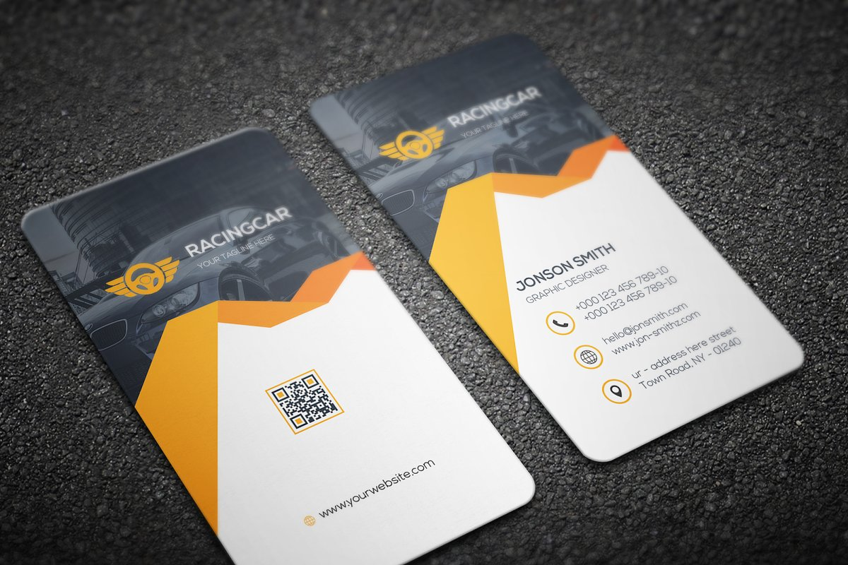 Rent-A-Car Business Card in Business Card Templates