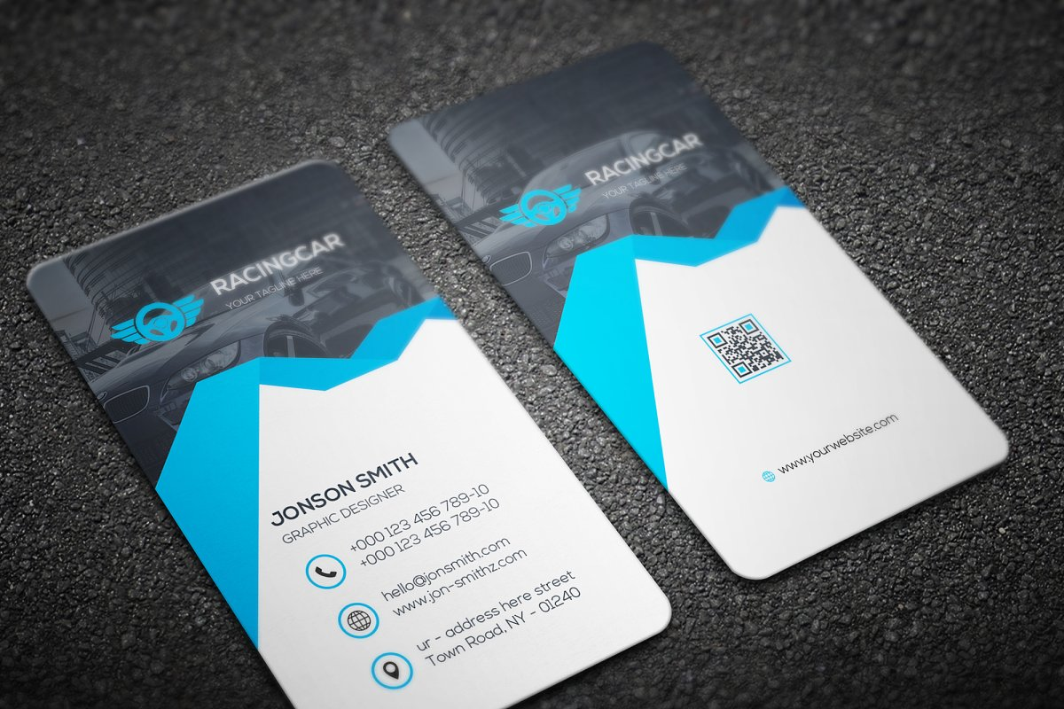 Rent-A-Car Business Card in Business Card Templates - product preview 1