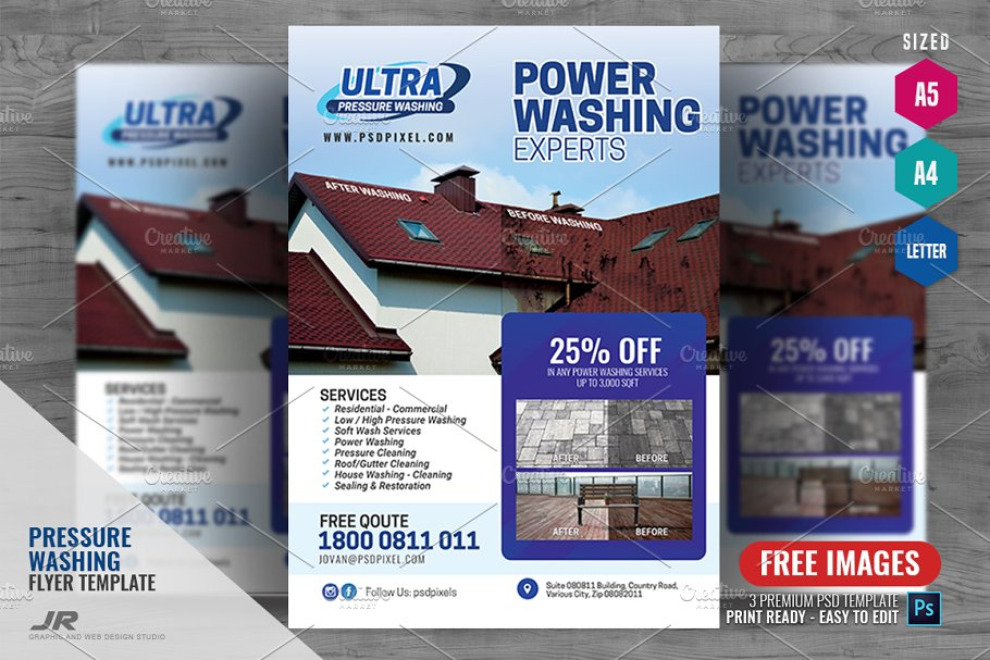 Power Wash Company Flyer ~ Flyer Templates ~ Creative Market