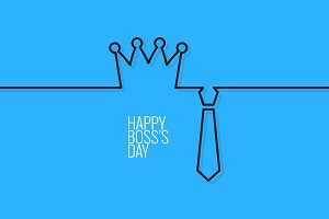 boss day continuous line vector