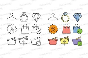 Shooping and web store icons