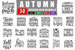 Autumn Svg Bundle Pre Designed Illustrator Graphics Creative Market