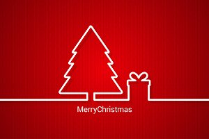 christmas web design, red background