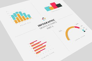 Infographic Graphs & Charts flat 2