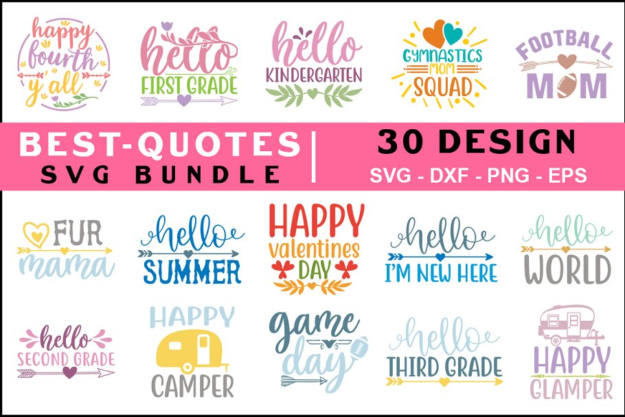 Best Quotes SVG Big Bundle ~ Graphic Objects ~ Creative Market