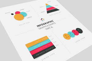 Infographic Graphs & Charts flat 3