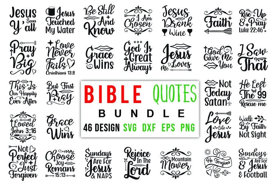 46 Bible Verse SVG Bundle