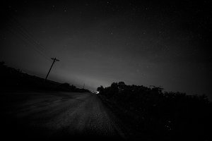 Country Night Stars and Fireflies