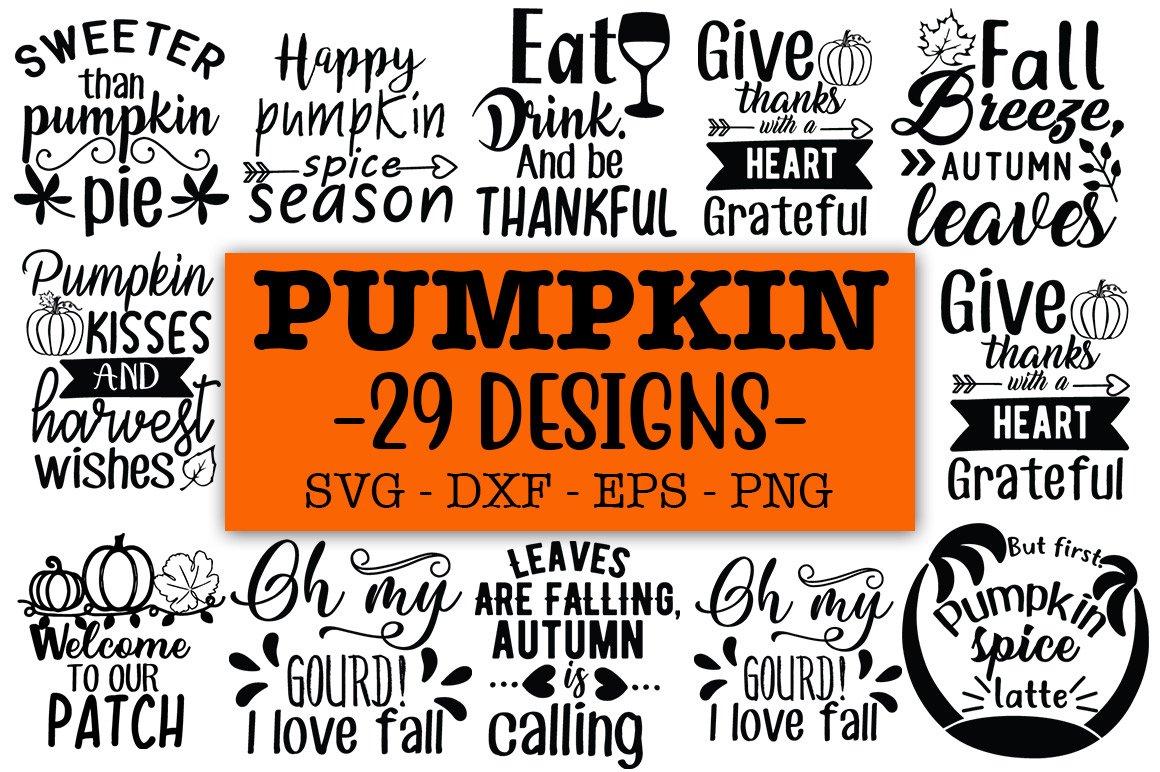 Pumpkin Svg Bundle Fall Svg Bundle Pre Designed Illustrator Graphics Creative Market