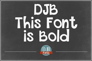 DJB This Font is Bold Font
