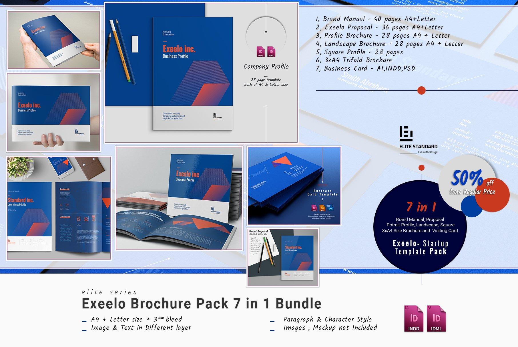Exeelo Brochure Pack ~ Brochure Templates ~ Creative Market
