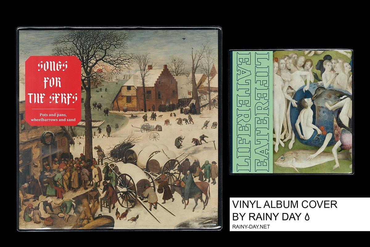 Vinyl Cover Album Art Mock-up