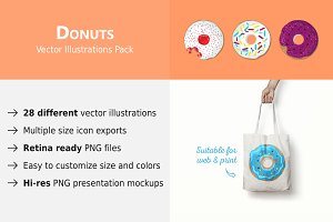 28 Vector Donut Illustrations