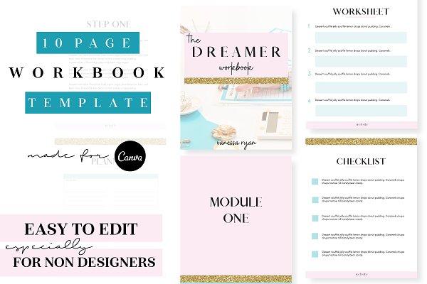 Dreamer Workbook Canva