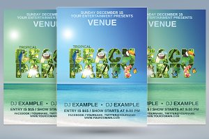 Tropical Beach Party Flyer