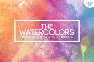 50%OFF WATERCOLOR Textures + Bonus