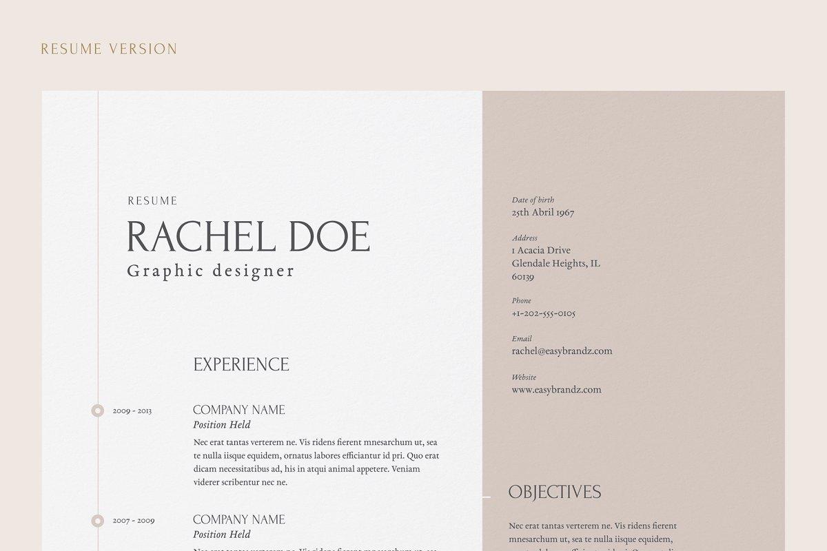 resume  portfolio template  creative resume templates