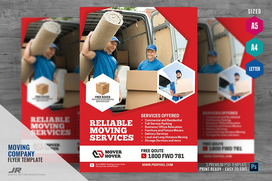 Moving and Logistics Flyer